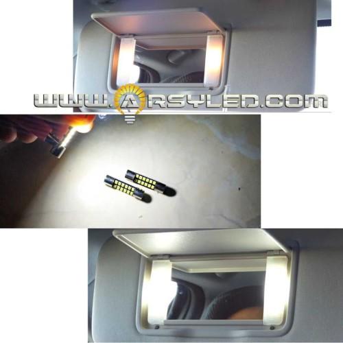 Foto Produk Lampu LED Sun Visor Cermin Honda HRV Festoon 28 mm 12 mata led atomic - Putih dari arsystore