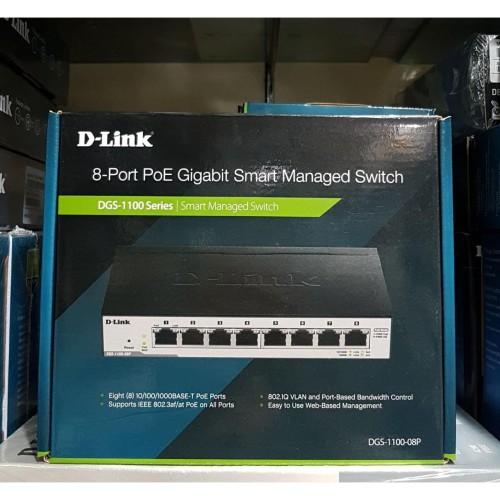 Foto Produk D-LINK DGS-1100-08P , DLINK 8-Port Gigabit PoE ( 64W ) Smart Managed dari Exadaya Loka Niaga
