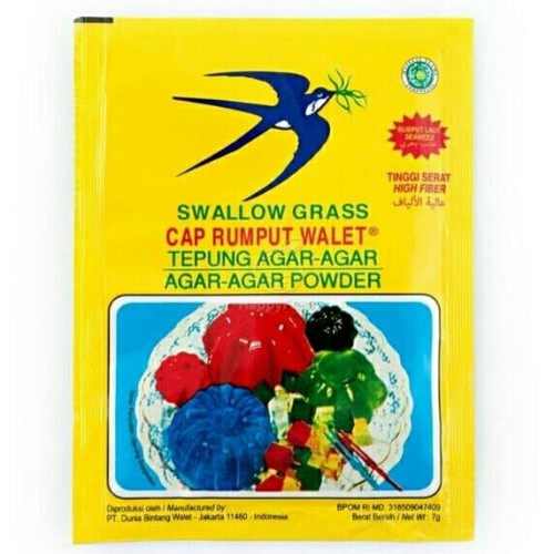 Foto Produk Agar Swallow Grass Tepung Agar Swallow Grass - Merah dari 3F Retail