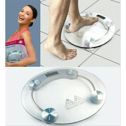 Foto Produk Timbangan Badan TRANSPARAN digital personal scale weight Kesehatan Art dari rejeki shop