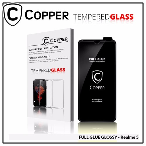 Foto Produk Realme 5 - COPPER Tempered Glass FULL GLUE PREMIUM GLOSSY dari Copper Indonesia