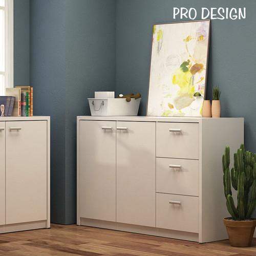 Foto Produk Pro Design Volta Bufet Dengan 2 Pintu 3 Laci - White dari Pro Design
