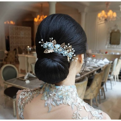Foto Produk Sirkam Sisir Aksesoris Hiasan Rambut Pesta Bunga Headpiece Hairpiece - Varian B dari fairystuffs