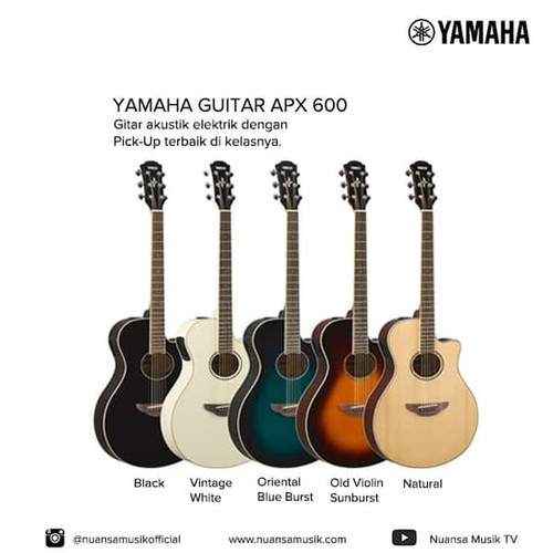 Foto Produk Yamaha Acoustic Electric Guitar APX600 / APX-600 / APX 600 - Natural dari Nuansa Musik