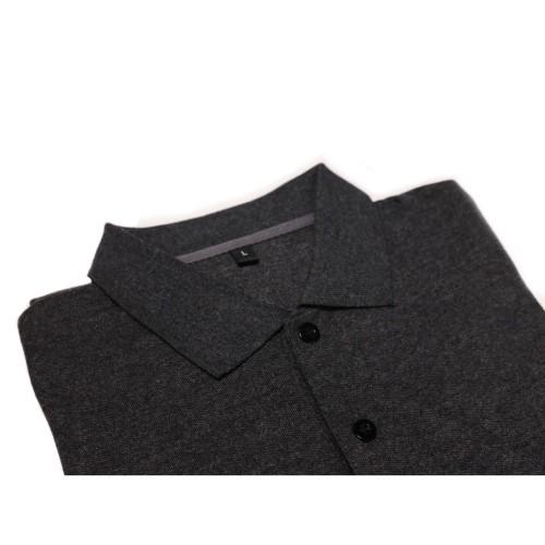 Foto Produk Polo Shirt Lacoste Cotton Premium, Dark Grey Abu Tua, Kaos Promo Murah dari Kiki Shop Id