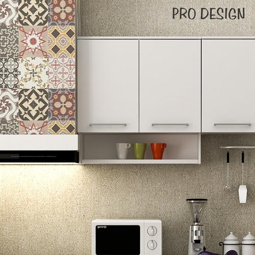 Foto Produk Pro Design Oklava Kabinet Dinding Dapur Dengan 2 Pintu Dan Penyimpanan - White Glossy dari Pro Design