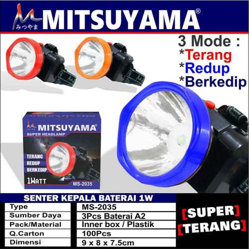 Foto Produk Senter kepala baterai headlamp Mitsuyama MS 2035 ms-2035 dari majultc