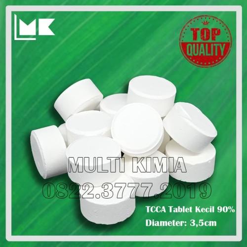 Foto Produk TCCA 90% Kaporit Tablet KECIL - 1kg dari Multi Kimia