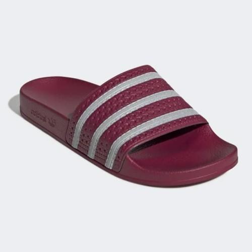 Foto Produk Sandal Adidas ADILETTE SLIDES COLLEGIATE BURGUNDY EE6184 ORIGINAL dari Ajran Shop