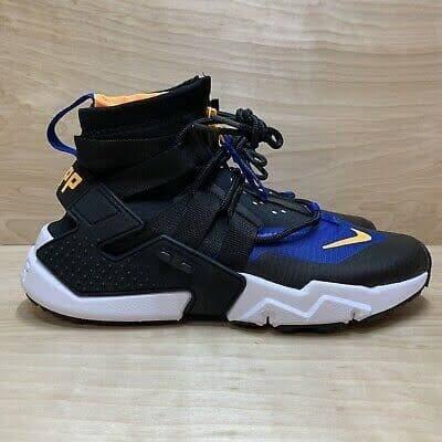Nike Air Huarache Gripp Black Blue Orange Sneakers Sepatu Jalan Pria