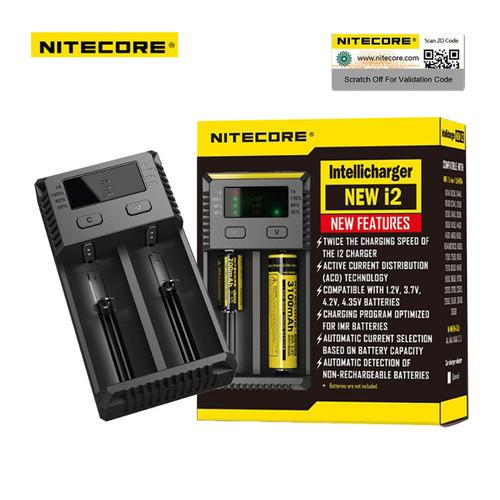 Foto Produk Nitecore i2 Battery Charger 2 Slot for Li-ion and NiMH -Black Cas Vape dari JakartaVapers