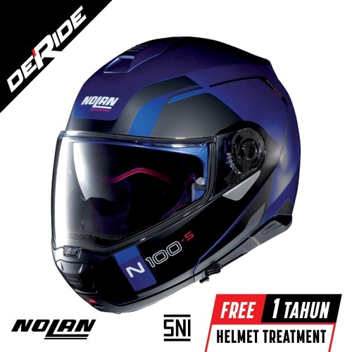 Foto Produk Nolan N100-5 CONSISTENCY N-COM Col. 024 (FLAT CAYMAN BLUE) dari DeRide Official Store