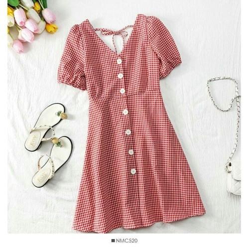 Foto Produk Dress Summer Square Marun [Dress 0141] SJK dari Super Model