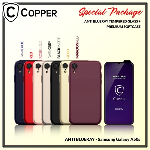 Foto Produk Samsung A50s - Paket Bundling Tempered Glass Blueray Dan Softcase dari Copper Indonesia