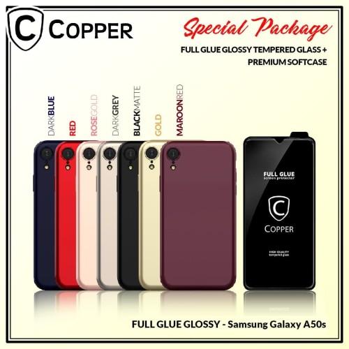 Foto Produk Samsung A50s - Paket Bundling Tempered Glass Glossy Dan Softcase dari Copper Indonesia