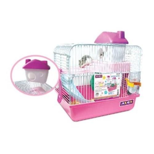 Foto Produk AL125E Alex Little Prince Hamster Cage Pink MP Kandang 2 tingkat dari Hime petshop