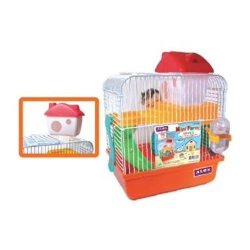 Foto Produk AL126 Alex Mini Farm Hamster Cage Kandang 2 tingkat lengkap dari Hime petshop
