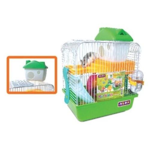 Foto Produk AL127 Alex Mini Woods Hamster Cage Kandang 2 tingkat lengkap dari Hime petshop