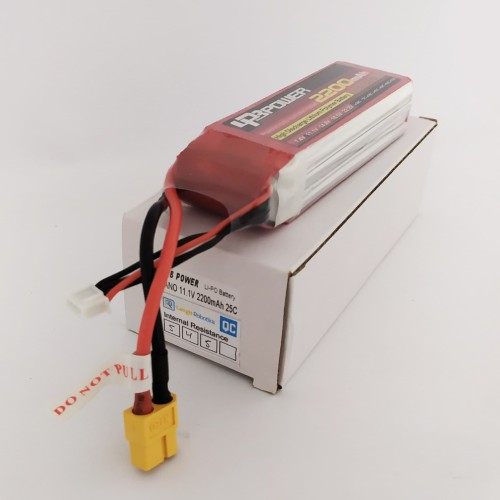 Foto Produk Battery Baterai LIPO LPB 3S 2200mah 3 S 11.1 volt 2200 mah 25 C 11.1v dari Langit Robotika