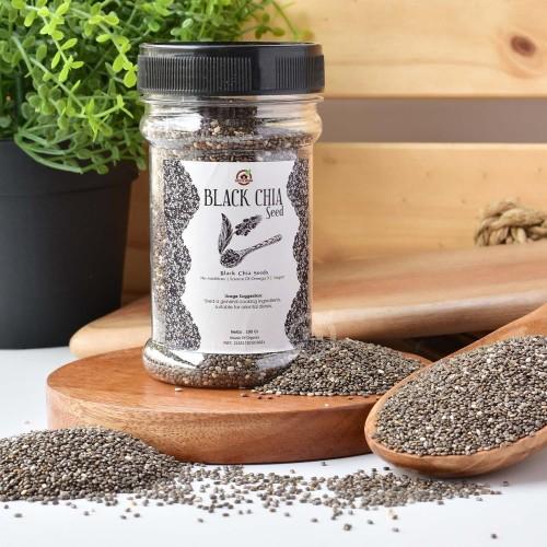 Foto Produk Organic Black Chia Seeds ( Botol ) 100 Gr dari House Of Organix