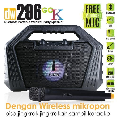 Foto Produk Dazumba DW296 GO K Portable Karaoke Bluetooth Speaker + Mic Wireless dari Dazumba Official Store