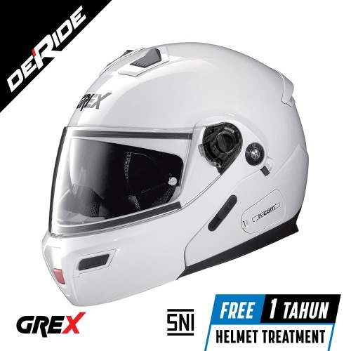 Foto Produk Helm Nolan GREX G9.1 EVOLVE KINETIC N-COM Col. 024 (METAL WHITE) SNI dari DeRide Official Store