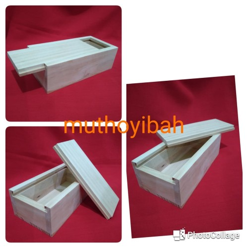 Foto Produk kotak kayu pinus sliding 15x10x5cm dari Muthoyibah