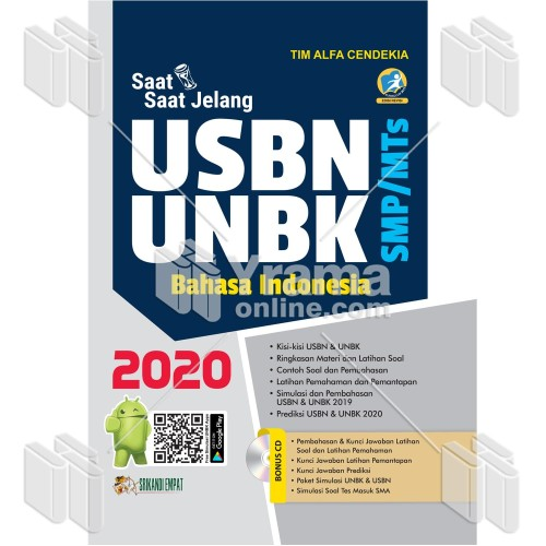Foto Produk BUKU SAAT-SAAT USBN-UNBK BAHASA INDONESIA SMP/MTs 2020 dari Yrama Widya Online