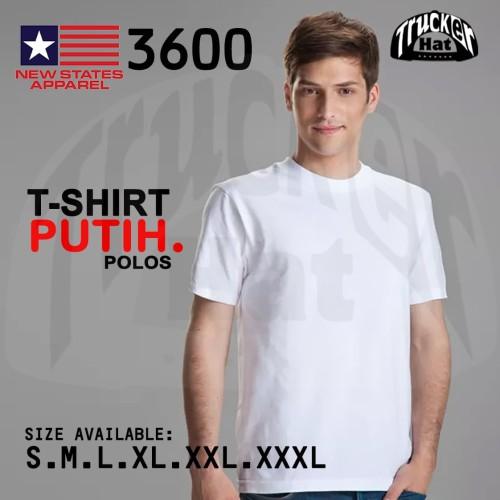 Foto Produk Kaos polos NSA SOFT (New states apparel) WHITE mirip gildan softstyle dari TruckerHat