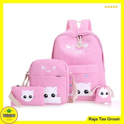 Foto Produk Tas Ransel, Tas Wanita, Tas Sekolah Anak RTG019 Pink dari Raja Tas Grosir