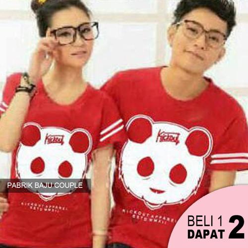 Foto Produk Kaos Couple Kickout Face - MERAH dari Pabrik Baju Couple