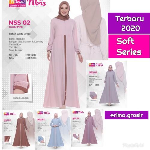 Foto Produk Original Gamis Nibras NSS 02 Dress Warna Soft Series Vintage dari Galeri Nibras