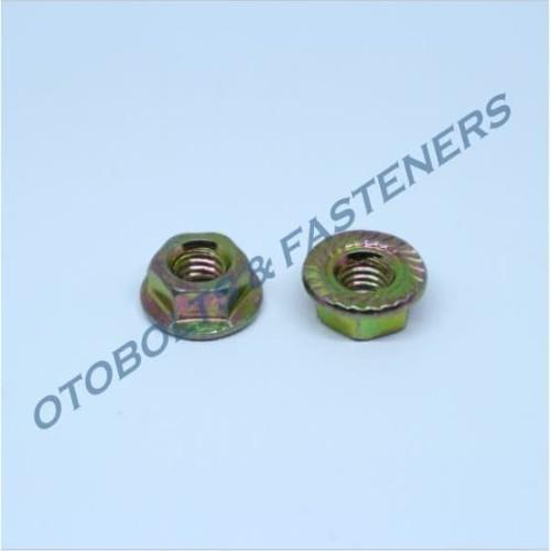 Foto Produk [PAKET 100PCS] Flange Nut M6 dari Otobolts & Fasteners
