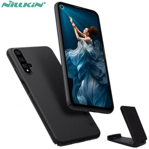 Foto Produk Nillkin Hard Case Huawei Nova 5T - Honor 20 Frosted Shield Black Ori dari Logay Accessories