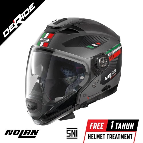 Foto Produk Nolan N70-2 GT BELLAVISTA N-COM Col. 024 (FLAT GRAY) dari DeRide Official Store