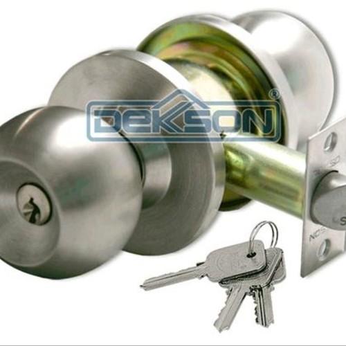 Foto Produk KUNCI BULAT DEKKSON KCBL 8587 ET SSS Kunci Pintu Stainless Bulat Put dari atmarinishop