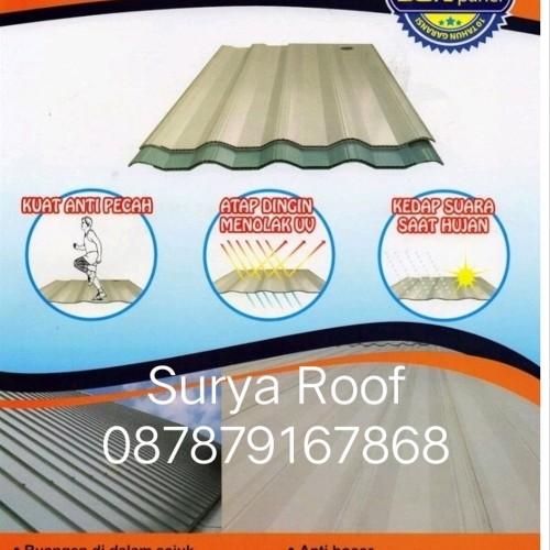 Foto Produk atap sunpanel tebal 12mm lebar 77cm putih biru dan semitransparan pe dari atmarinishop