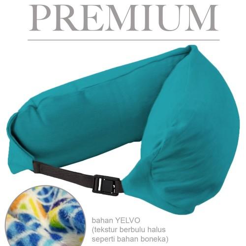 Foto Produk Bantal Leher / Travel Neck Pillow Multifungsi Premium - Torqoise aks dari atmarinishop