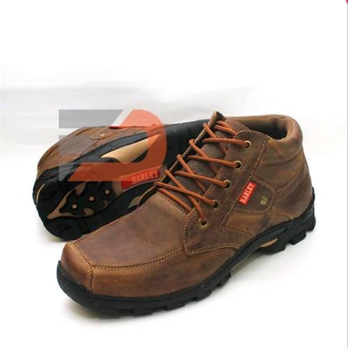 Foto Produk Di JAMIN ORIGINAL KULIT - Sepatu Kulit Asli Coklat Gaya Kuat & Awet dari atmarinishop