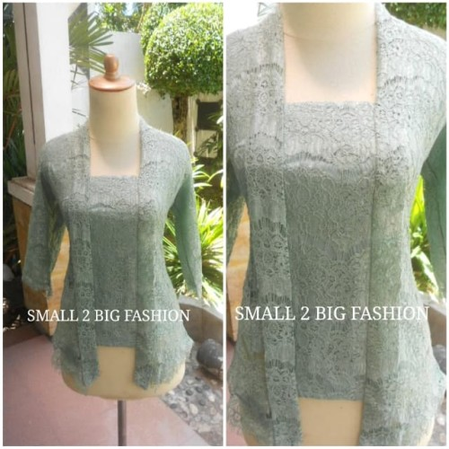 Foto Produk kebaya hijau / kebaya kutubaru brukat army/ kebaya navy / kebaya putih dari Small 2 Big Fashion