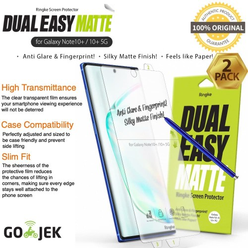 Foto Produk Anti Gores Ringke Dual Easy Samsung Note 10 Plus Note 10 Not Tempered - Note 10 Plus, Wing dari GadgetLifestyle Official