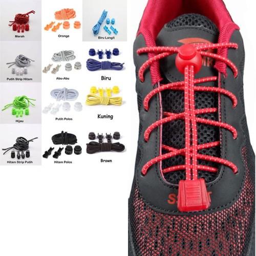 Foto Produk tali sepatu dengan stoplock - with stopper / jogging / fitnes / lari dari Toko Andalan Kaki Lima