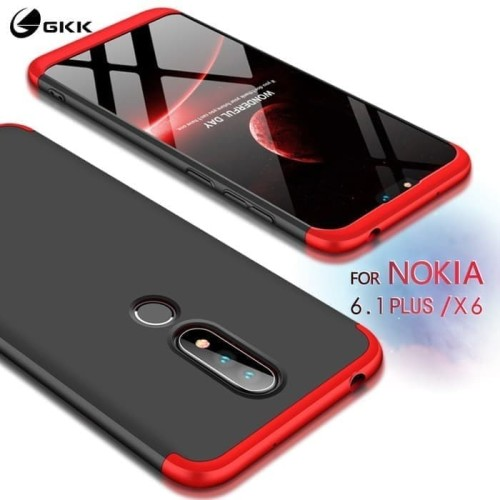 Foto Produk Case Gkk Nokia 6.1 Plus X6 X 6 - Case 360 Original - Hitam dari a&h original