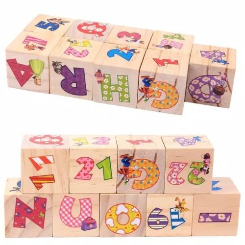 Foto Produk Mainan Edukasi Anak PUZZLE CUBE/KUBUS 6 bagian/Block ALFABET dari lovely kayy