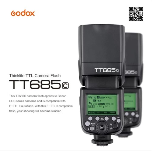 Foto Produk EXTERNAL FLASH GODOX TT685 FOR CANON TTL FLASH SPEEDLITE OTOMATIS dari sensordigital