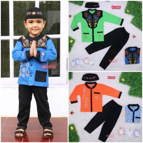 Foto Produk Baju Koko Anak uk. 1-2 Tahun / Baju Muslim Setelan plus Peci dari kiosbalitamurah