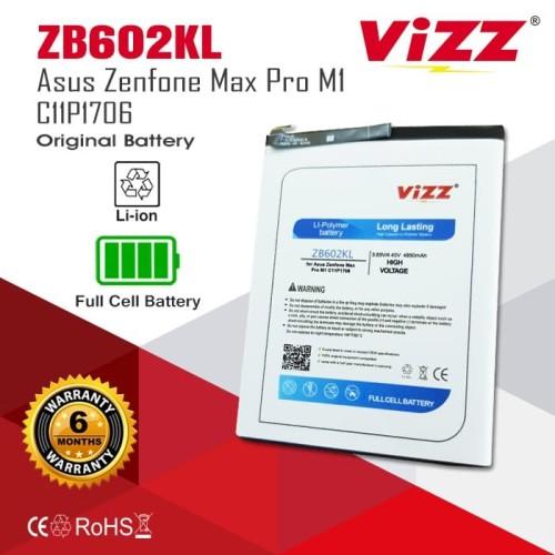 Foto Produk Vizz Baterai Double Power Asus Zenfone Max Pro C11P1706 M1 ZB602KL dari Vizz Official Store