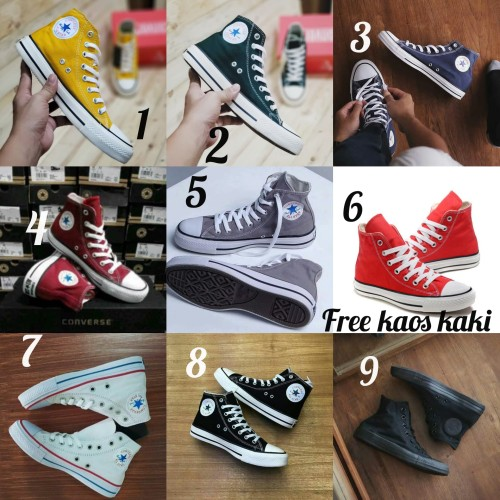 Foto Produk Converse Grade Ori size 36 - 44 sepatu cowo cewe import sneakers biru - Satu, 37 dari eno ajjh
