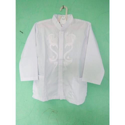 Foto Produk Baju Muslim Atasan Koko Anak Umur 10 -11 - 12 - 13 Tahun - Putih - 10 dari Zarka Baby Shop