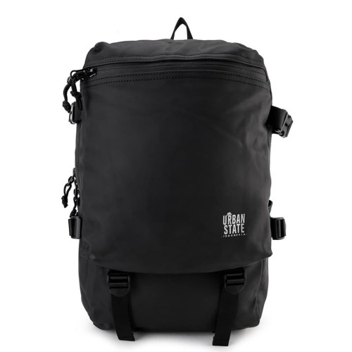 Foto Produk Urban State - Coated Dry Strap Panel Backpack - Black dari Urban State